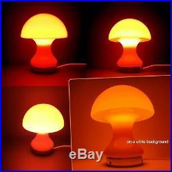 Mid Century Modern Atomic Age Space Age European Art Glass Mushroom Desk Lamp