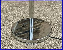 Mid-Century Modern Atomic Chrome Eyeball Orb Floor Lamp