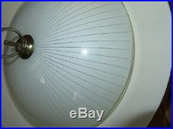 Mid Century Modern Atomic Flying Saucer Rectractable Light Fixture Chandelier