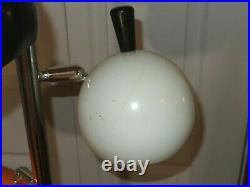 Mid Century Modern Atomic Retro Metal Pole 3 Way Lamp