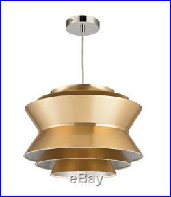 Mid Century Modern Ceiling Pendant Hanging Light Fixture Retro Atomic Gold New