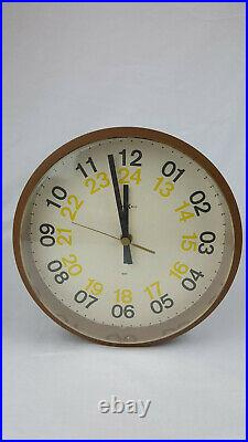 Mid Century Modern Howard Miller Atomic Wall Clock George Nelson Model # 622-535