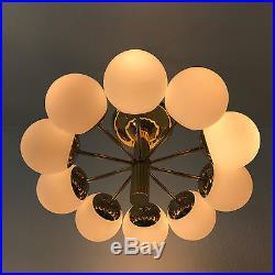Mid Century Modern KAISER MULTI-GLOBE Sputnik ATOMIC Ceiling Lamp CHANDELIER