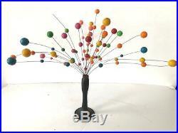 Mid Century Modern Kinetic Ball Sputnik Sculpture Danish Op Art Atomic Mad Men
