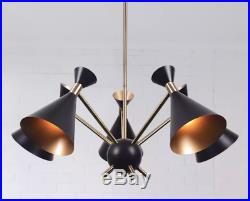 Mid Century Modern Light Fixture Retro Atomic Ceiling Pendant Hanging Black New