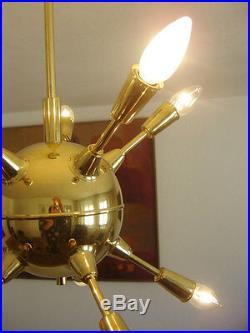 Mid Century Modern SPUTNIK Atomic PENDANT LIGHT Ceiling Lamp CHANDELIER Sunburst