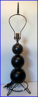 Mid Century Modern Table LAMP ATOMiC Sputnik Rocket Balls HAIR PIN Tripod Base