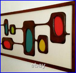 Mid Century Modern Wall Sculpture 1960s Atomic Design