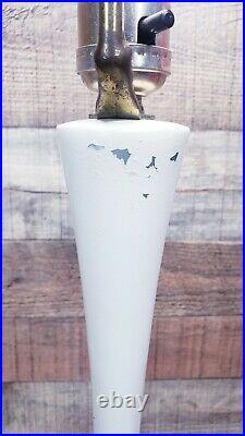 Mid Century Modern vintage White Laurel Genie Lamp Tulip Base atomic mcm