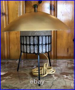 Mid Century Space Rocket Ship UFO Atomic Age Lamp