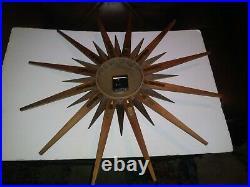 Mid Century Starburst Elgin Atomic Wall Clock 26