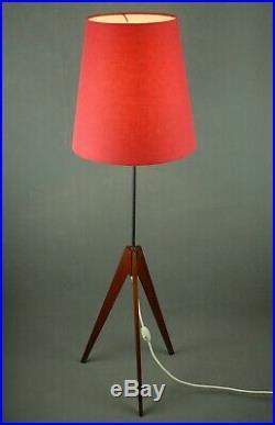 Mid Century Tripod Floor Lamp Atomic Vintage Danish Modern 1950s Eames 60s 70s