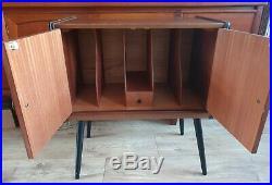 Mid Century Vintage Retro 1950s 1960s Atomic Record Cabinet Dansette Legs