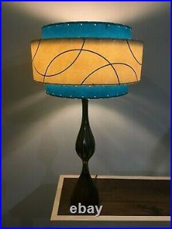 Mid Century Vintage Style 3 Tier Fiberglass Lamp Shade Modern Atomic Retro TIGA