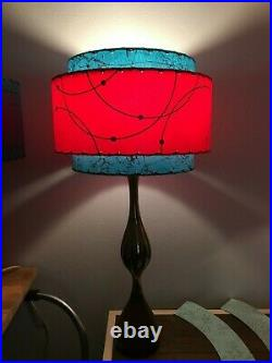 Mid Century Vintage Style 3 Tier Fiberglass Lamp Shade Modern Atomic Retro T/R