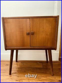 Mid Century Vinyl Record Cabinet 1950s Atomic