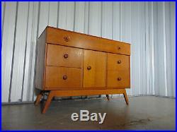 Midcentury 1950s Oak Sideboard Drawers Storage Vintage Retro Atomic Era