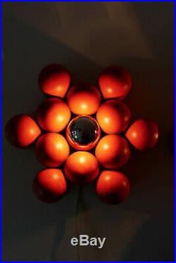 PAIR Mid Century Modern ATOMIC Sputnik WALL Lamps LIGHTS Sartatti STILNOVO Era