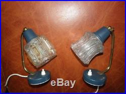 PAIR lamp bedside Bed Side MID CENTURY MODERN Vintage light atomic age retro old