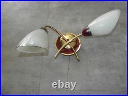 PAIR wall lamp sconce light MID CENTURY MODERN Vintage atomic age retro old