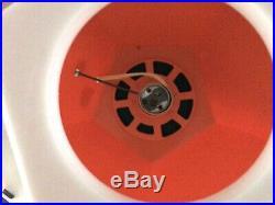 Pair Of Vintage Mid Century Modern Orange Atomic Acrylic Plastic Retro Lamps