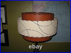 Pair of Mid Century Vintage Style 3 Tier Fiberglass Lamp Shades Atomic BOI3