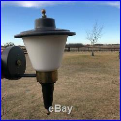 RARE VIRDEN Mid Century Atomic Flying Saucer Porch Light Fixture / Exterior Lamp
