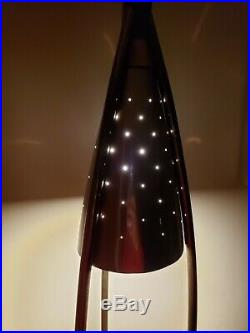 Rare! Atomic MID Century Modern Planter Tension Pole Lamp! Stiffel Vtg 50's MCM