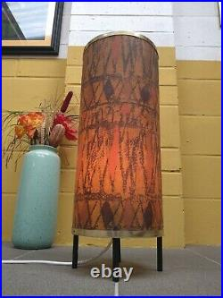Rare Vintage Retro Mid Century Spun Fibreglass Floor Rocket Lamp Atomic MCM