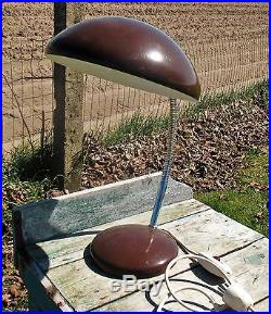 Retro Bauhaus Modernist Table Desk Lamp Mid Century Modern Machine Age Atomic