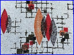 SALE! Atomic Mid Century Spherical Barkcloth Vintage Fabric Drape Curtain 4 Avai