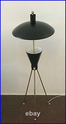 STILNOVO Mid Century ARTELUCE Black TABLE or FLOOR LAMP LIGHT Deco ATOMIC