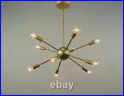Sputnik Atomic Lamp Mid Century Modern Light Chandelier Vintage Brass 50's Eames