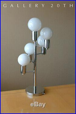 Sputnik Chrome MID Century Modern Atomic Table Lamp! Sonneman Lighting Space 60s