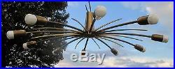 Stunning Mid Century Modern Kalmar Sputnik Spider Chandelier Flushmount Atomic