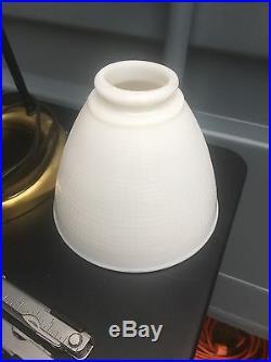 VTG 1940's Walter Von Nessen Mid Century Atomic Tripod Ring Stand Lamp Brass