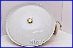 VTG Mid Century Modern Atomic UFO Flying Saucer Hanging Lamp Light Ceiling 14