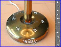 Very Rare! MID Century Modern Brass Stiffel Lamp! Atomic Sputnik Vtg 50's Retro