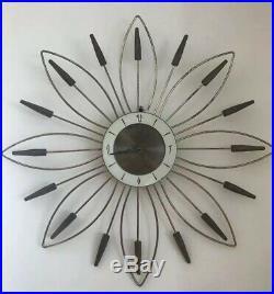 Very Rare Vintage Mid Century Roxhall Atomic Starburst Clock MCM Parts/Repair