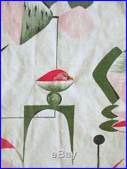 Vintage 1940s 1950s Bark Cloth Mid Century Modern Large Fabric Atomic Age MCM