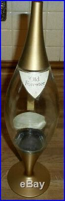 Vintage 1950's Old Forester Decanter Atomic Sputnick Raymond Loewy Mid-century