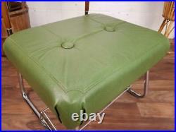 Vintage 1960's Valet Hall Stand Green Vinyl Stool Mid-Century Atomic Retro