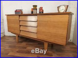 Vintage 1960's Wood Formica Sideboard Mid-Century Retro Atomic