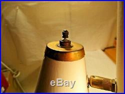 Vintage 3 Light Mid Century Tension Pole Lamp 90-95 w Atomic Metal Lamp Shades
