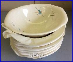 Vintage 65 Pcs. Salem Free Form Atomic Starburst Mid Century Plates Saucers