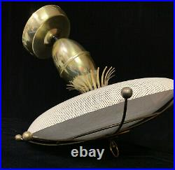 Vintage Atomic Flying Saucer Ufo Disc MID Century Modern Ceiling Fixture