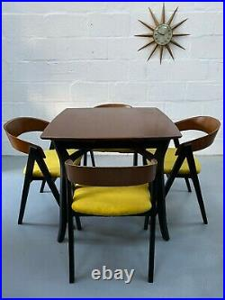 Vintage Atomic Mid Century Extending Dining Table & 4 Chairs