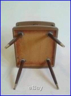 Vintage Atomic Sputink Wood Walnut End Table MID Century Danish Modern MCM Eames