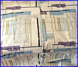 Vintage Barkcloth Yardage/fabric Abstract/Atomic/Mid Century Modern 5+ yards
