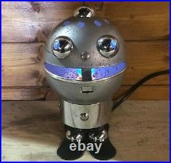 Vintage Italian Robot Lamp by Satco 1960's Retro Space Age Atomic Mid Century